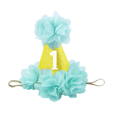 LIFE MAGIC BOX Birthday Crown for Girls Cute Flower Princess Crown Best 1st Birthday Headband Hair Accessory Gift Birthday Hat