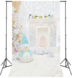 LIFE MAGIC BOX Vinyl Snowman Winter Photo Background Photography Backdrops Cute Wallpaper for Studio