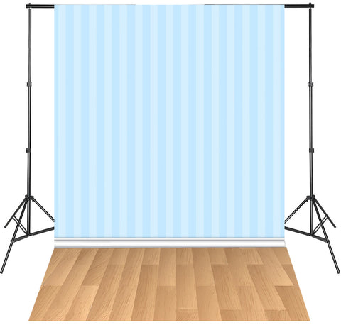 LIFE MAGIC BOX Seamless Washable Blue Striped Wallpaper Backdrop Portable Photo Background Studio
