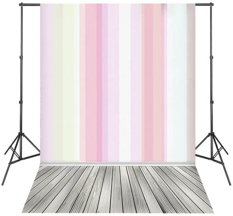 LIFE MAGIC BOX Pink Striped Backdrop Photo Backdrop Wood Floor Best Photo Background