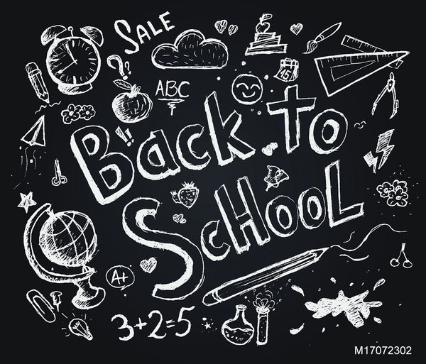 LIFE MAGIC BOX Vinyl Back To School Chalkboard Collapsible Backdrop Party Background Photoshoot