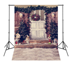 Photo Xmas Backgrounds White Fireplace Christmas Tree Photoshoot Backdrops for Photography Studio
