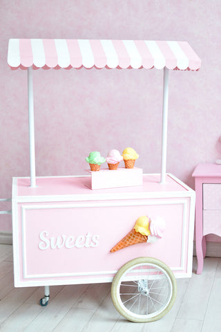 LIFE MAGIC BOX Seamless Wrinkle-free Washable Birthday Ice Cream Car Photo Backdrops Studios