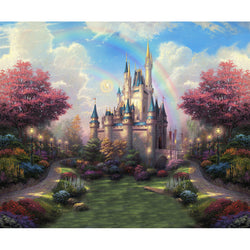 LIFE MAGIC BOX Vinyl Dream Castle Cute Backgrounds Infant Photography Backdrops Sparkle Backdrop