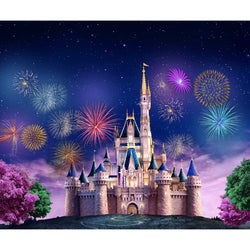 LIFE MAGIC BOX Vinyl Dream Castle Cute Backgrounds Infant Photography Backdrops Fireworks Backdrop