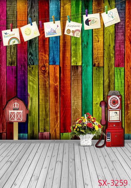 LIFE MAGIC BOX Colorful Wooden Photography Backdrops Studio Background Fashion Photography