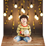 New Photo Backgrounds for Children Lights on Wood Photography Backdrops Newborn Background Props