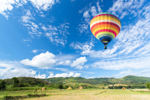 LIFE MAGIC BOX Vinyl Hot Air Balloon Cheap Photography Backdrops Cool Backgrounds Cloud Backdrop