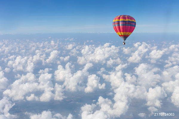 LIFE MAGIC BOX Vinyl Hot Air Balloon Cheap Photography Backdrop Best Photo Background Cloud Backdrop