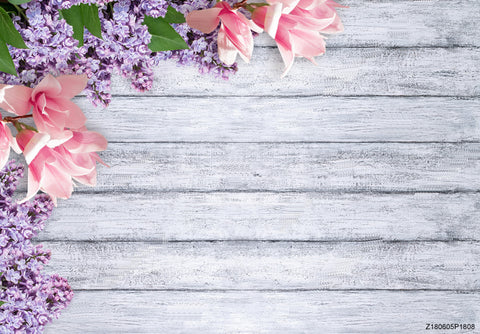 Wood Photography Backdrops Flower Photo Backgrounds Table Cloth