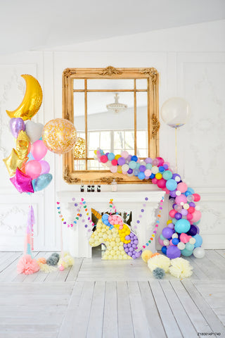 Vinyl Unicorn Party Photo Backgrounds Wallpapers Birthday Party 1st Baby Cenario Foto