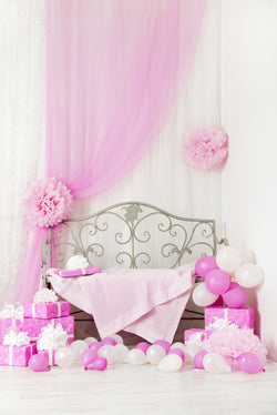 Vinyl Pink Cute Photo Backgrounds Princess Wallpapers Comunion Decoracion Backdrops 02