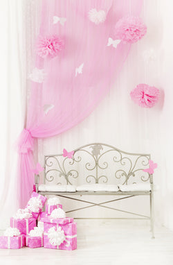 Vinyl Pink Cute Photo Backgrounds Princess Wallpapers Comunion Decoracion Backdrops