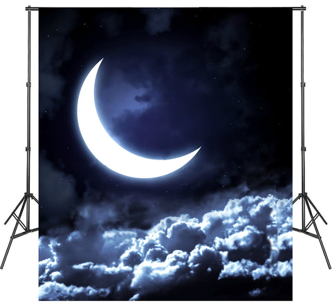 Moon Clouds Photoshoot Backgrounds Video Photo Studio Backdrops Vinyl Polyester Wallpapers
