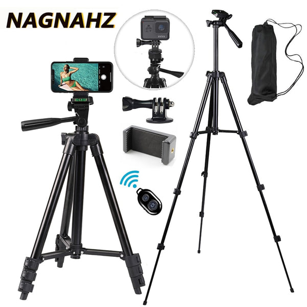 Universal Mobile Phone Tripod Stand 40inch Photography for Gopro iPhone Samsung Xiaomi Huawei Phone Aluminum Travel Tripode Para
