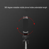 Extendable 3 In 1 Selfie Stick PhoneTripod Monopod with Bluetooth Remote for Smartphone Selfie Stick