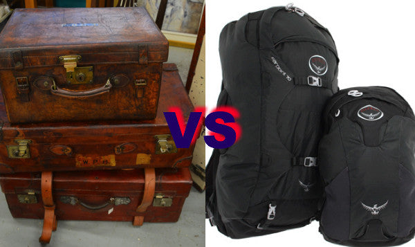 Heavy Suitcases v light backpacks