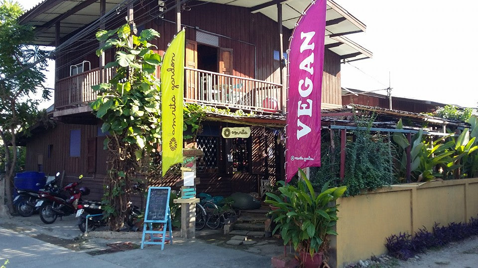 Amrita Garden entrance @ Chiang Mai, Thailand - Full Vegan Review on VomadLife.com