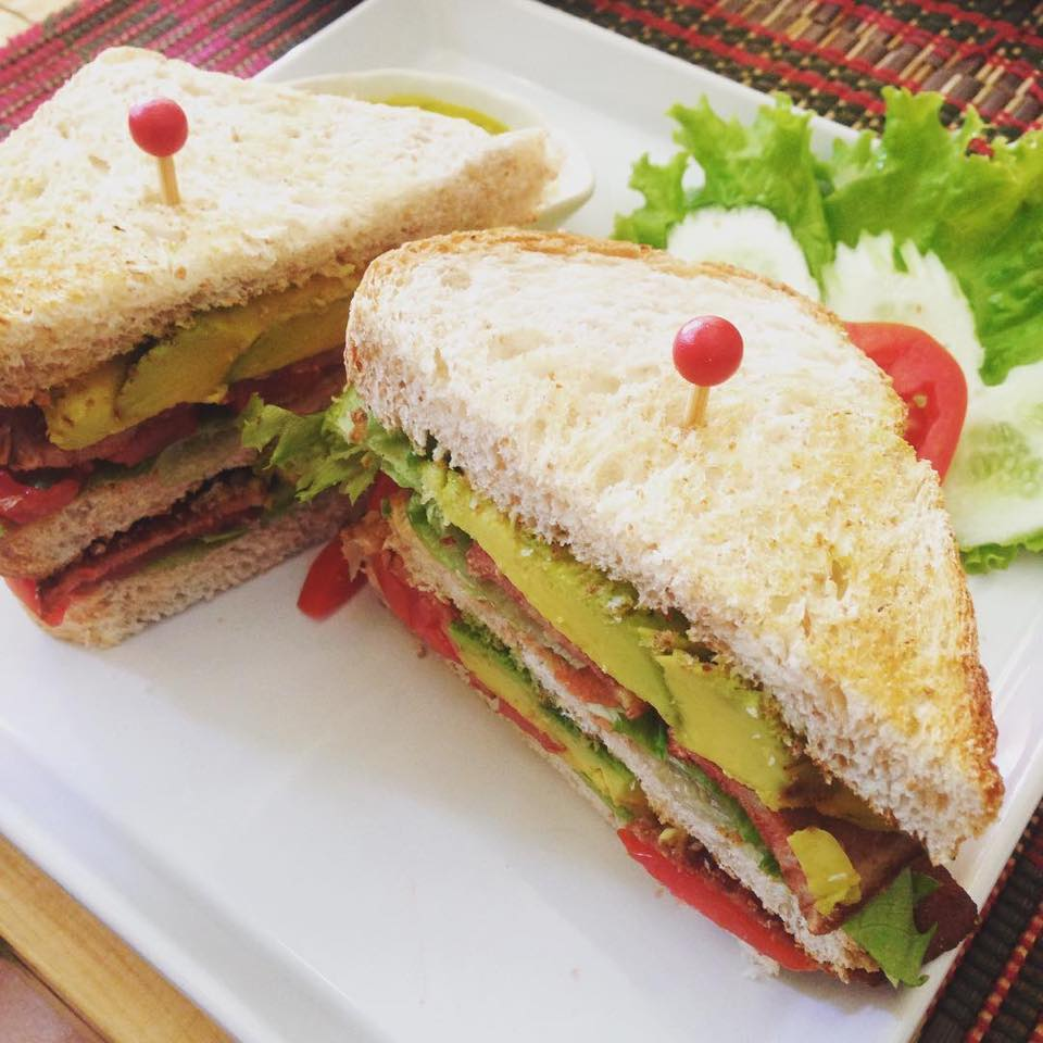 Vegan BLT plus avocado? Yes Please! Vegan Heaven, Chiang Mai, Thailand - VomadLife.com