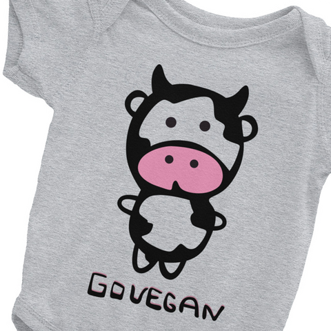 Go Vegan Cow - Infant Bodysuit (2 Colours)