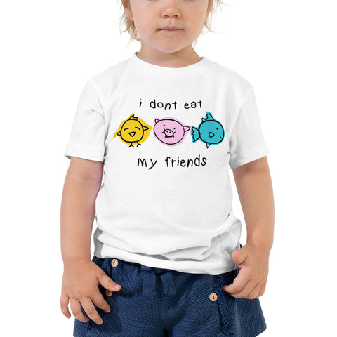 I Don't Eat My Friends - Toddler Tee (White)