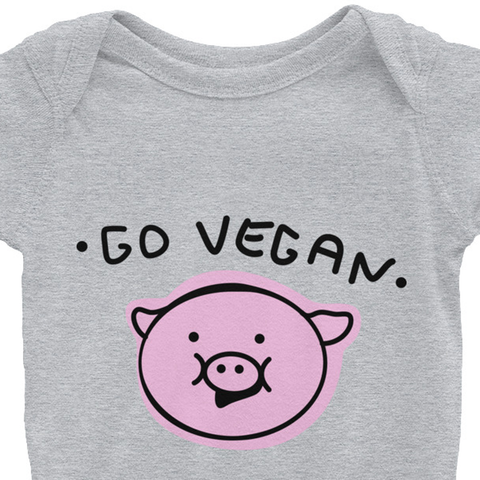 Go Vegan Pig - Infant Bodysuit (4 Colours)