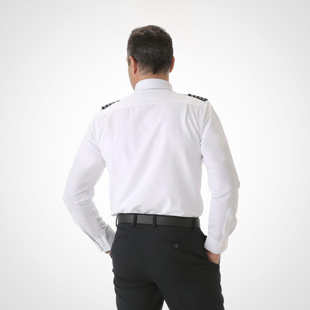 Men's Long Sleeve Pilot Uniform Shirt - Fitted Tropo