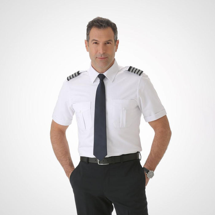 Men's Short Sleeve Pilot Uniform Shirt - Fitted Tropo