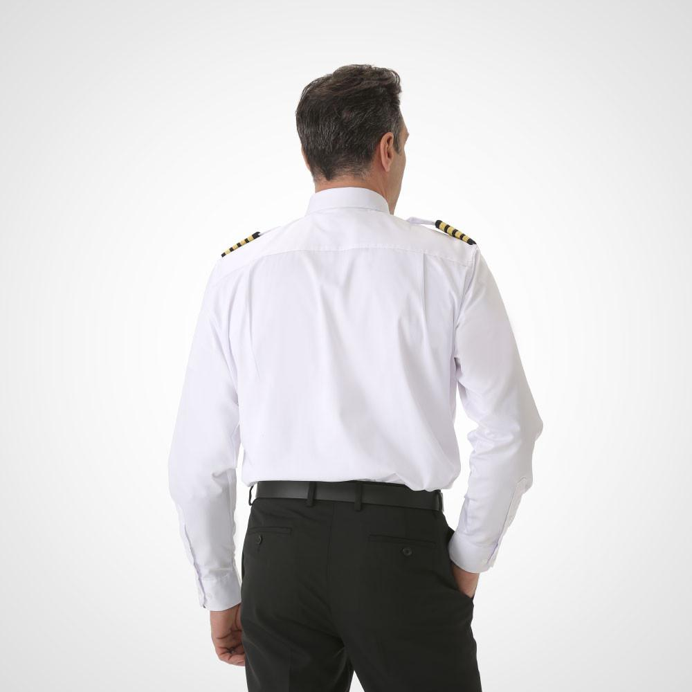 Men's Long Sleeve Pilot Uniform Shirt - Tapered Cirrus