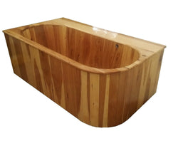 Drop-In Wooden Ofuro Bathtub in Hickory