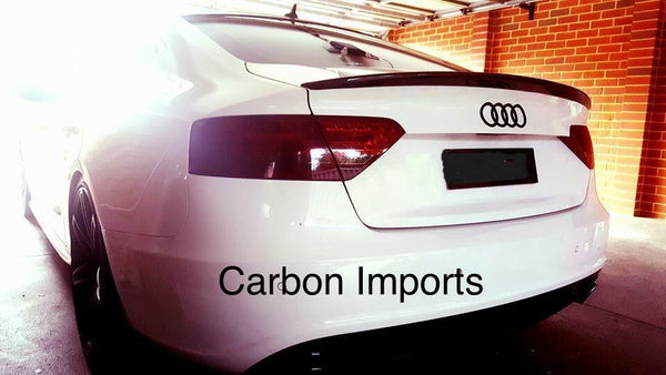 Audi A5 Carbon Fiber Trunk Lip 2007-2016 B8 & B8.5 V1