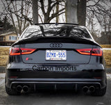 Audi A3/S3/RS3 Carbon Fiber Trunk Lip 2013-2016 (Aggressive)