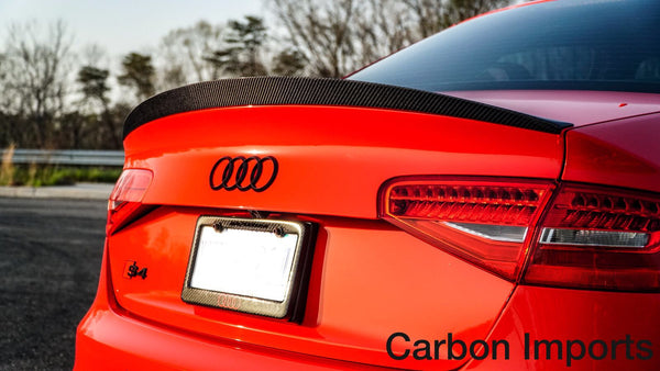 Audi S4 2009-2016 B8/B8.5  Carbon Fiber Trunk Lip LowKick Version