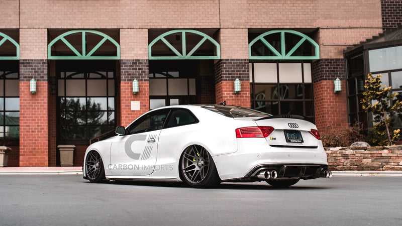 Audi S5 2009-2016 B8/B8.5  Carbon Fiber Trunk Lip HighKick Version