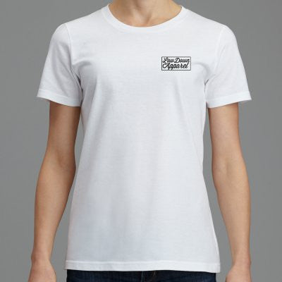 Women's Melbourne Box Tee - White - LowDown Apparel