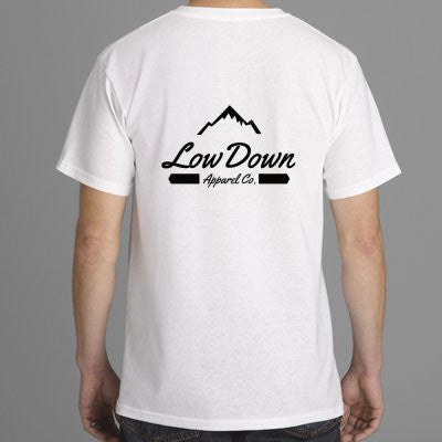 Mountain Tee - White - LowDown Apparel