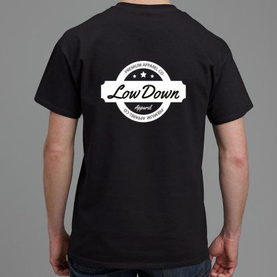 Stamp Tee - Black - LowDown Apparel