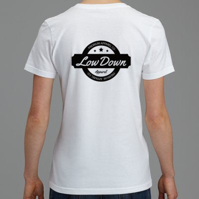 Women's Stamp Tee - White - LowDown Apparel