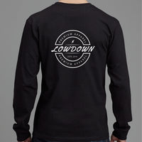 Black Logo Long Sleeve Back