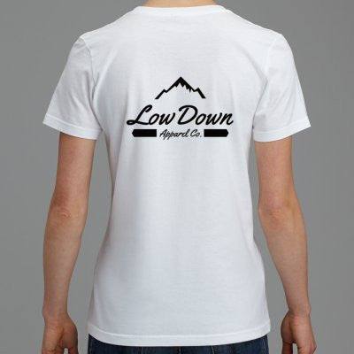 Women's Mountain Tee - White - LowDown Apparel
