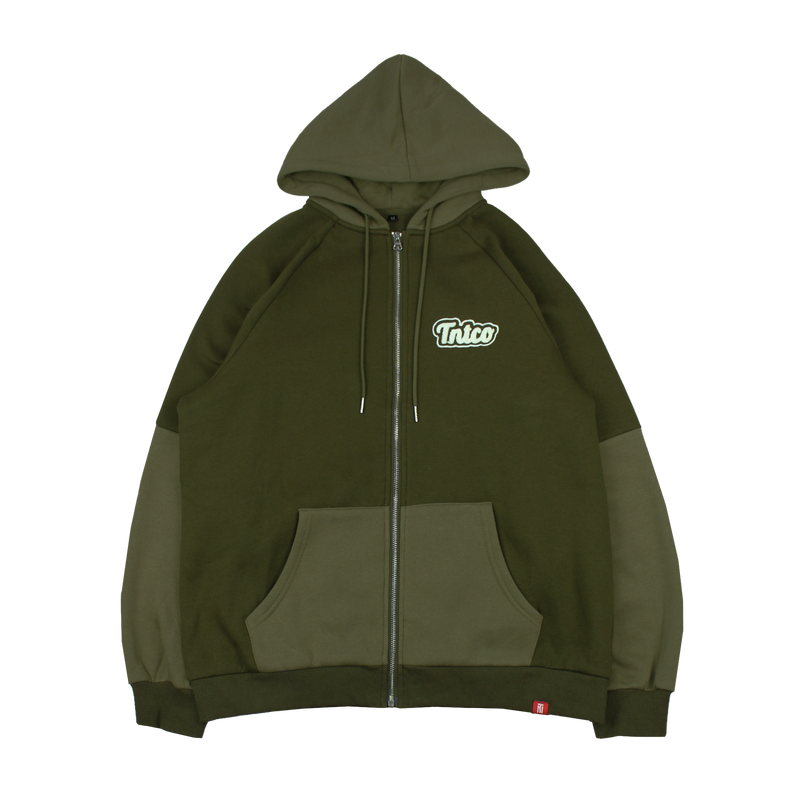 Verity Zipped Hoodie (Green)
