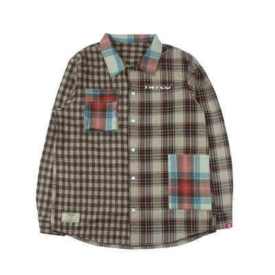 Paneled Checkered Shirt