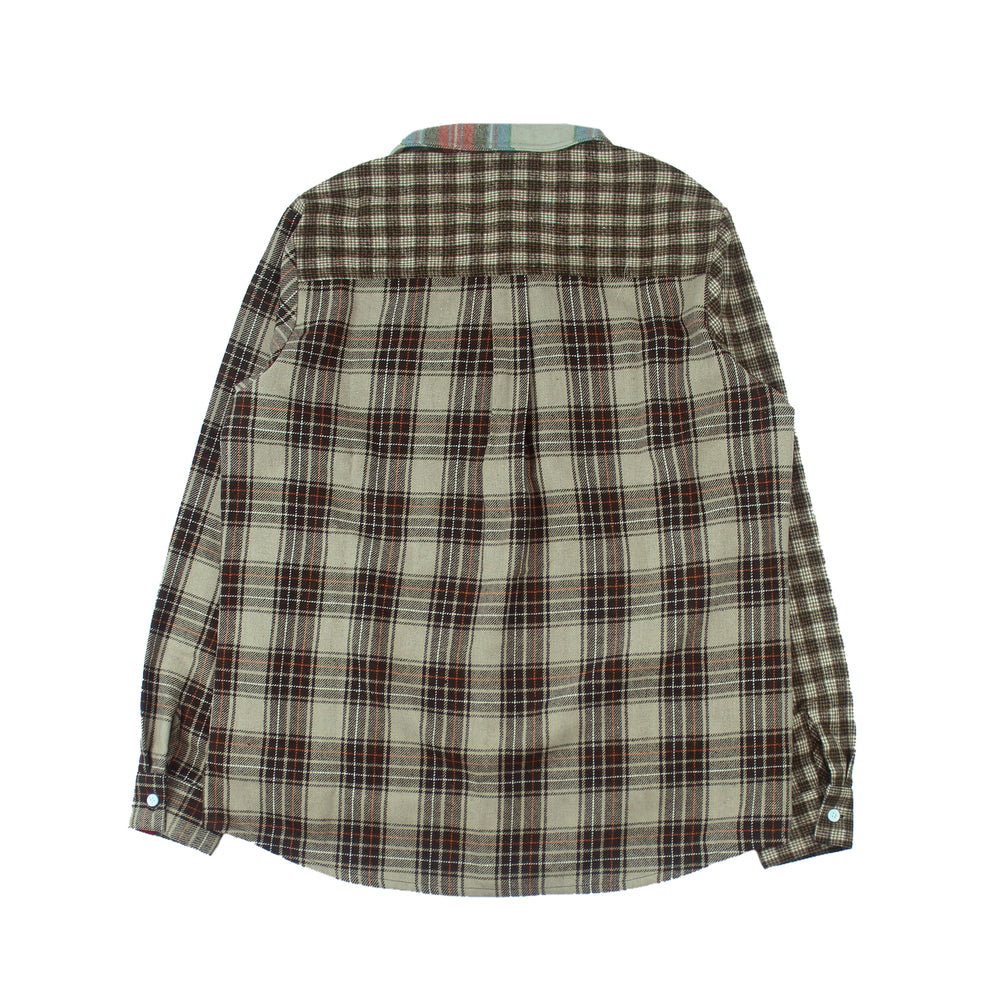 Panelled Checkered Shirt