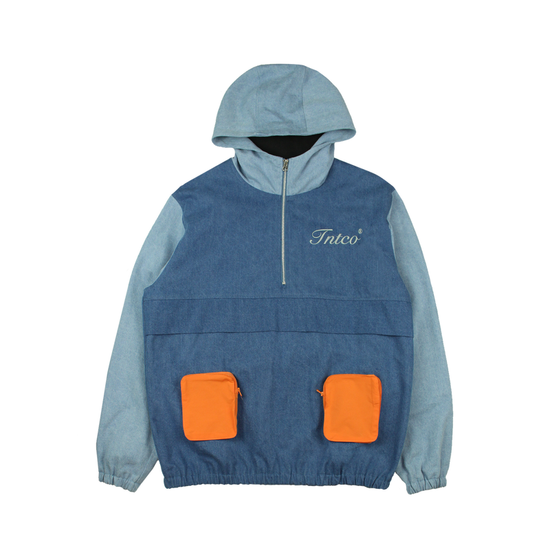 Cynic Zipped Up Track Jacket (Denim)