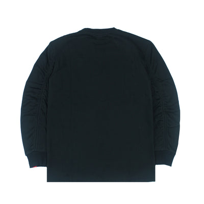 RUCHED SLEEVES SWEATSHIRT