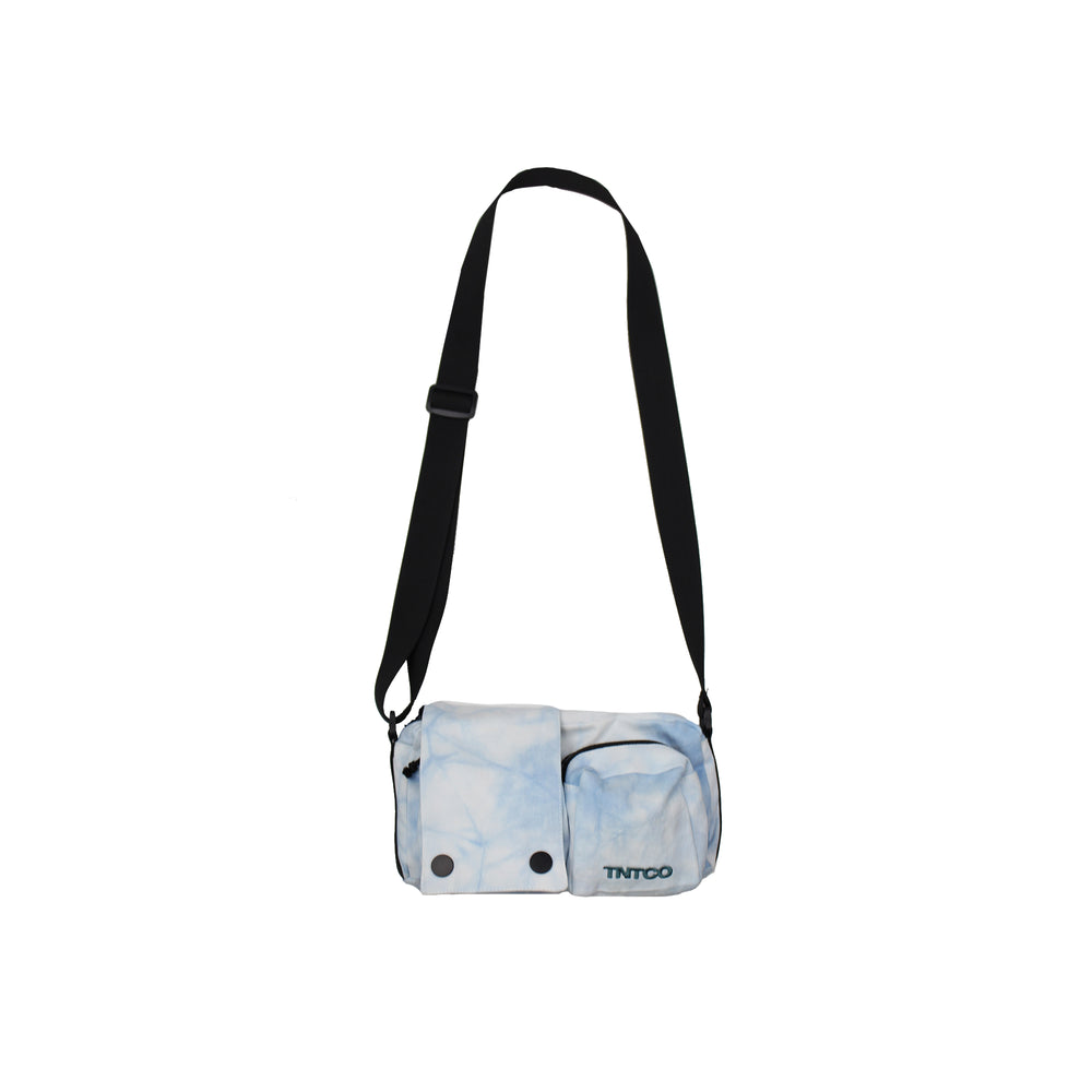 Tie Dyed Shoulder Bag (Blue)