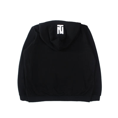 ITALIC HOODED SWEATSHIRT (BLACK)