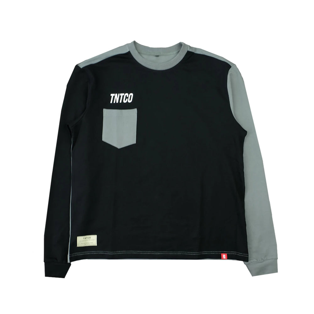 Contrast Long Sleeves Tee Black