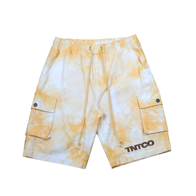 Tie Dyed Logo Shorts (Yellow)
