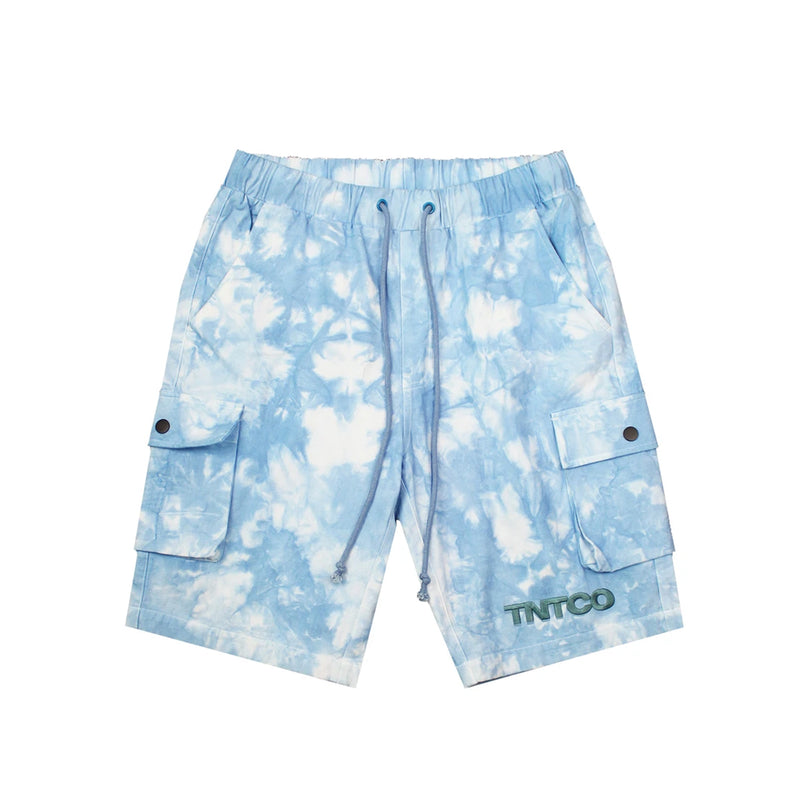 Tie Dyed Logo Shorts (Blue)
